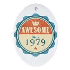 Awesome Since 1979 Oval Ornament