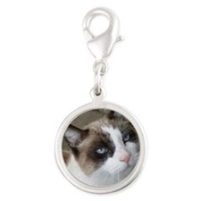 CAT: Silver Round Charm