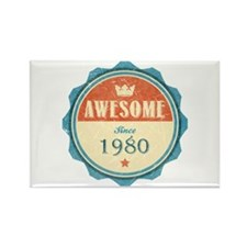 Awesome Since 1980 Rectangle Magnet