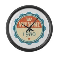 Awesome Since 1980 Large Wall Clock