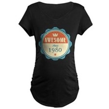 Awesome Since 1980 Dark Maternity T-Shirt