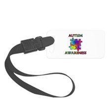 Autism Awareness Colorful Puzzle Pieces Luggage Ta