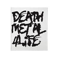 Death Metal 4Life Throw Blanket