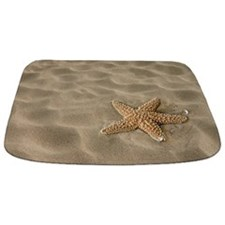 Realistic Sand with Starfish Bathmat
