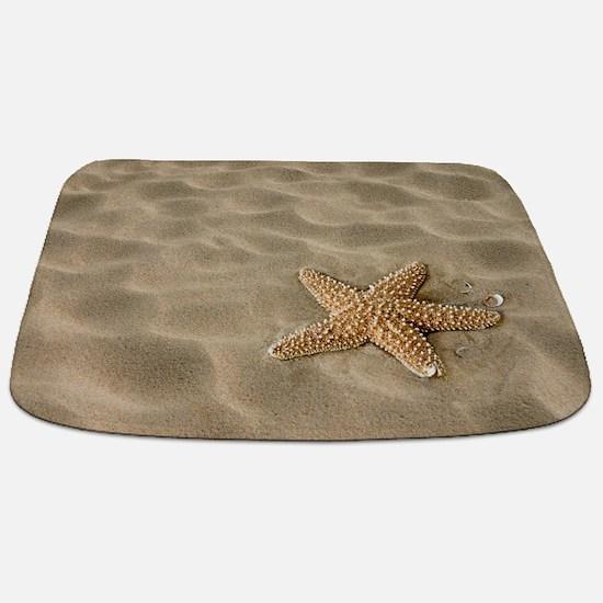 Realistic Sand with Starfish Bathmat