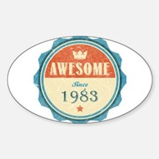 Awesome Since 1983 Oval Decal