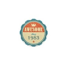 Awesome Since 1983 Mini Button
