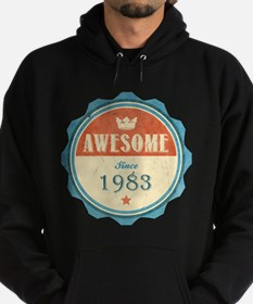 Awesome Since 1983 Dark Hoodie