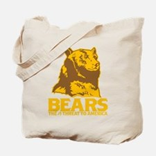 Bears: The #1 Threat to America Tote Bag