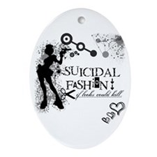 SUICIDAL FASHION Oval Ornament