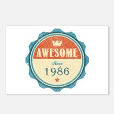 Awesome Since 1986 Postcards (Package of 8)