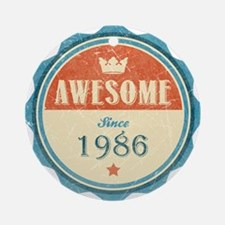 Awesome Since 1986 Round Ornament