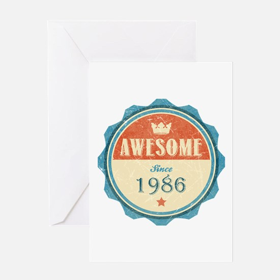 Awesome Since 1986 Greeting Card