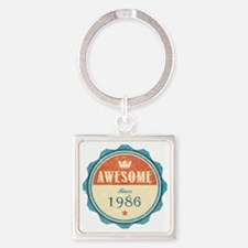 Awesome Since 1986 Square Keychain