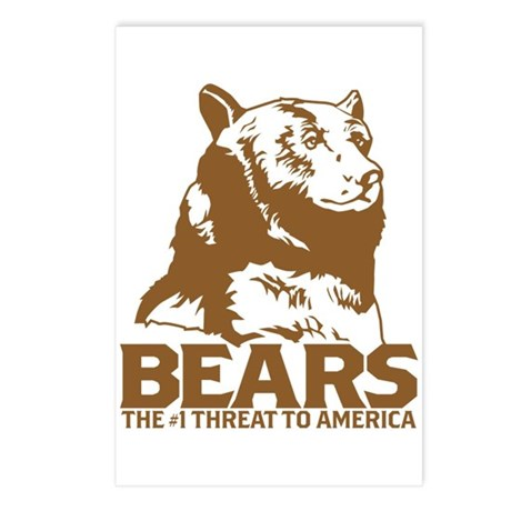 Bears: The #1 Threat to America Postcards (Package