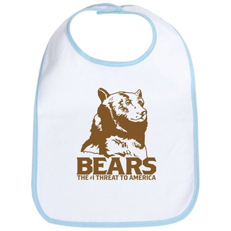 Bears: The #1 Threat to America Bib