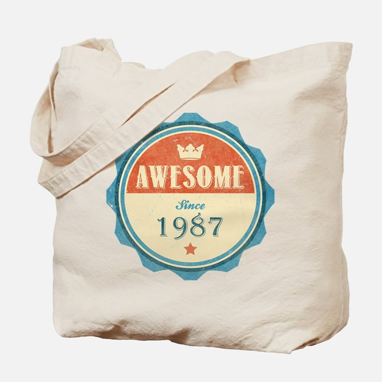 Awesome Since 1987 Tote Bag