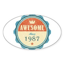 Awesome Since 1987 Oval Decal