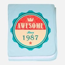 Awesome Since 1987 Infant Blanket