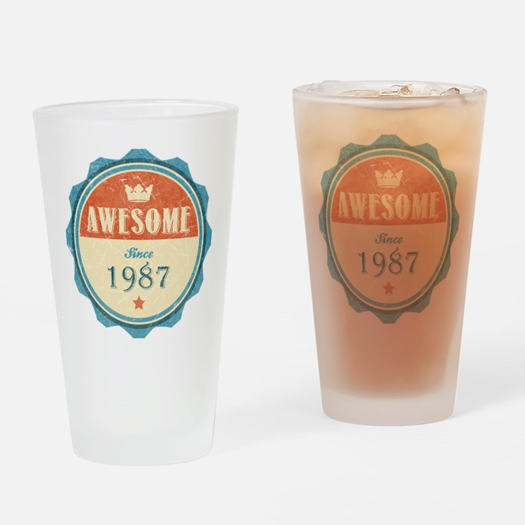 Awesome Since 1987 Drinking Glass