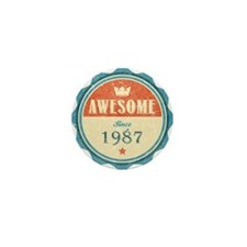 Awesome Since 1987 Mini Button (10 pack)