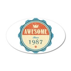 Awesome Since 1987 22x14 Oval Wall Peel