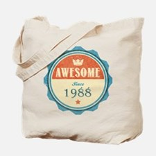Awesome Since 1988 Tote Bag