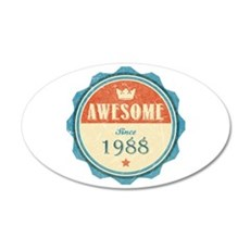 Awesome Since 1988 38.5 x 24.5 Oval Wall Peel