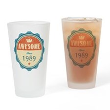 Awesome Since 1989 Drinking Glass