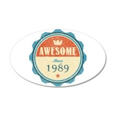 Awesome Since 1989 22x14 Oval Wall Peel