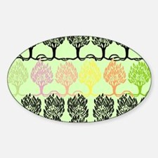Spring Colors - Beardsley's Trees Sticker (Oval)