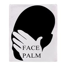 Face Palm Throw Blanket