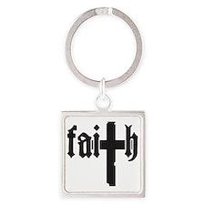 Faith Square Keychain