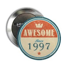 """Awesome Since 1997 2.25"""" Button (10 pack)"""