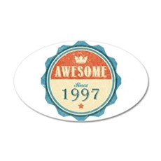 Awesome Since 1997 22x14 Oval Wall Peel
