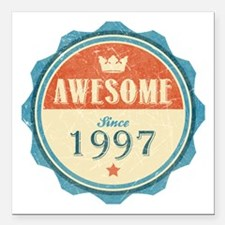 "Awesome Since 1997 Square Car Magnet 3"" x 3"""