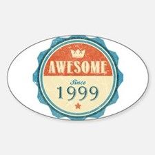 Awesome Since 1999 Oval Decal