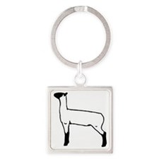 show lambs Square Keychain