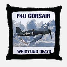 F4U Corsair Whistling Death Throw Pillow