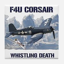 F4U Corsair Whistling Death Tile Coaster