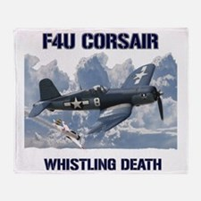 F4U Corsair Whistling Death Throw Blanket