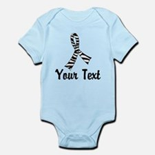 Personalized Zebra Ribbon Awarenes Infant Bodysuit