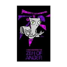 Zen Of Anger Rectangle Decal
