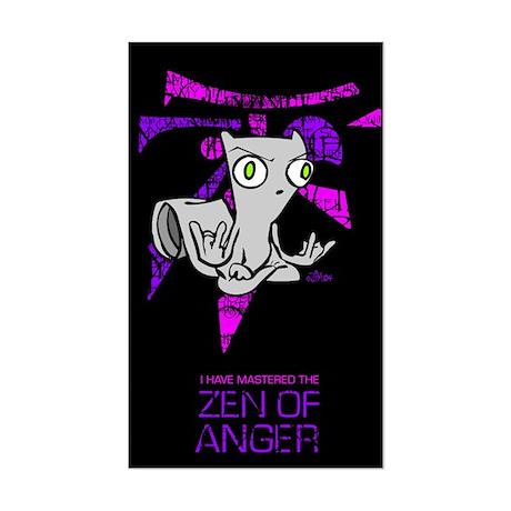 Zen Of Anger Rectangle Sticker