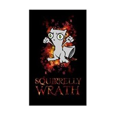 Squirrelly Wrath BLACK Rectangle Sticker