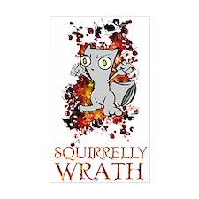 Squirrelly Wrath! Rectangle Sticker