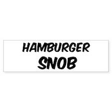 Hamburger Bumper Bumper Sticker