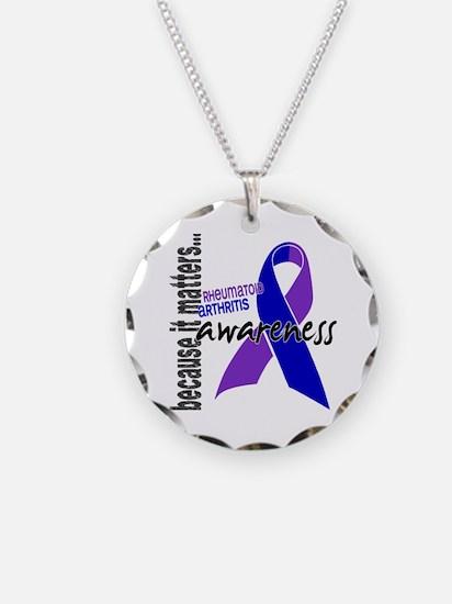 RA Awareness 1 Necklace Circle Charm