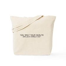 SHUT1_BLK1 Tote Bag