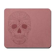 Pink Sugar Skull Mousepad